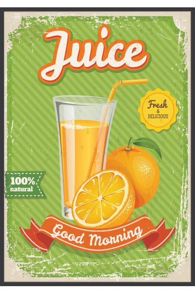 Juice Vintage Poster