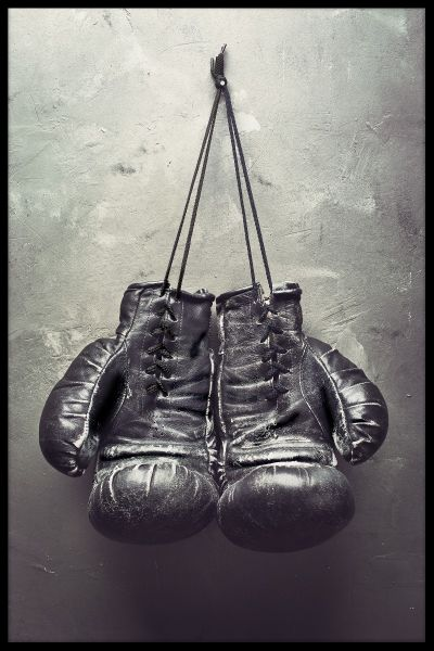 Hanging Boxing Gloves Poster