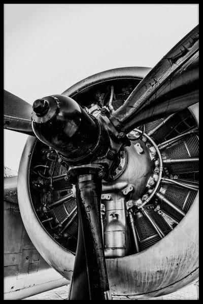 Vintage Propeller Air plane Poster