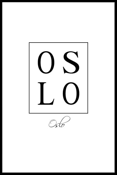 Oslo Box Text Poster