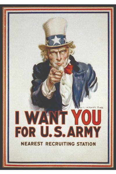 Uncle Sam Vintage Poster