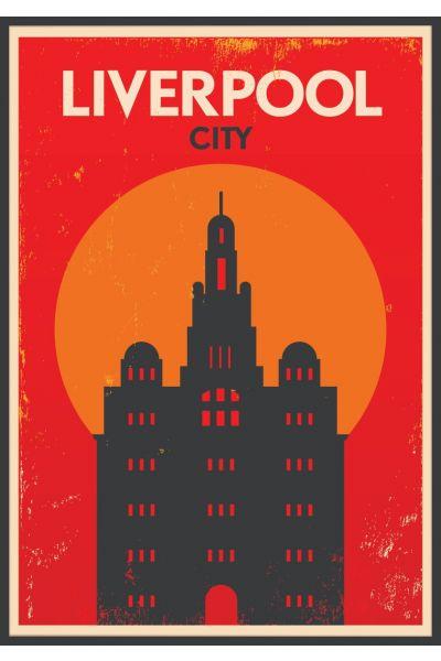 Liverpool Retro Vintage Poster