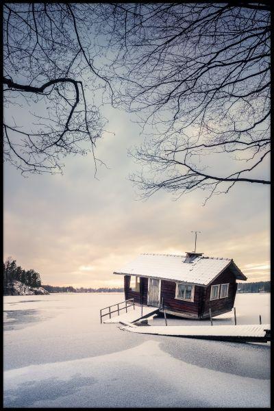 Abandoned Cottage Finland Poster