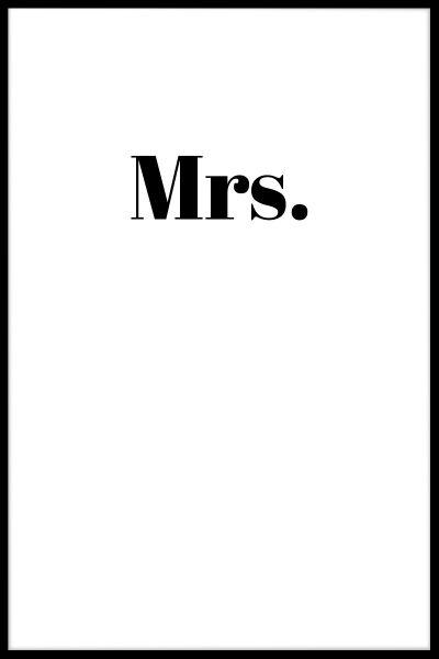 Mrs. Poster