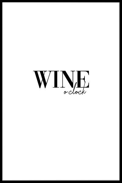 Wine O'Clock Poster
