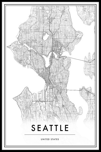 Seattle Map Poster