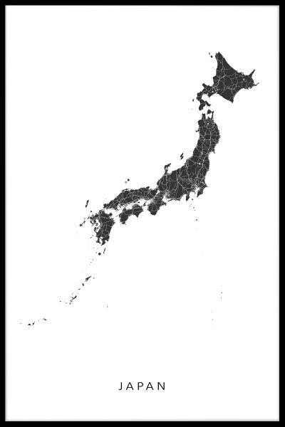 Japan Map N02 Poster