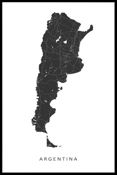 Argentina Map Poster