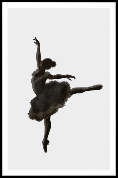 Ballerina Illustration Poster