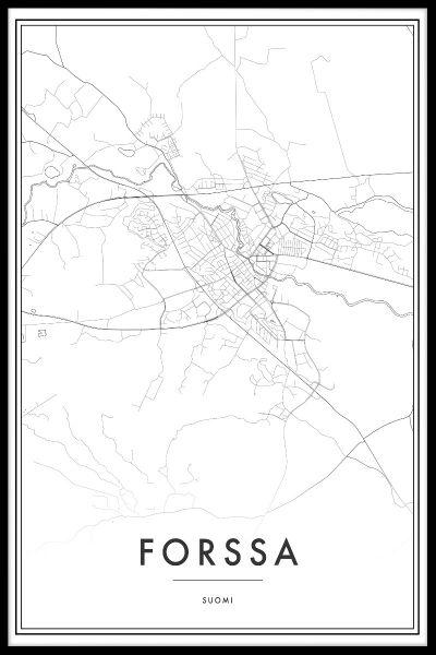 Forssa Map Poster