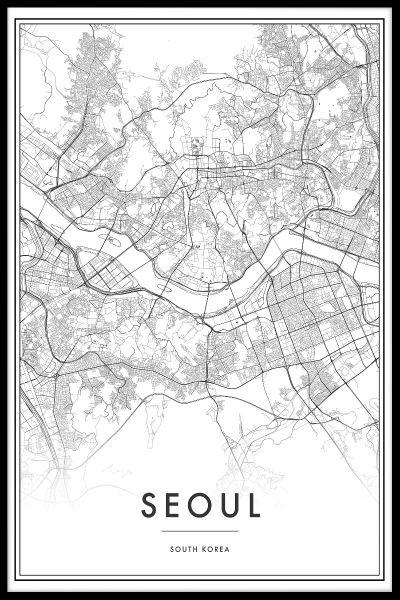 Seoul Map Poster