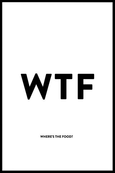 Where's The Food Poster