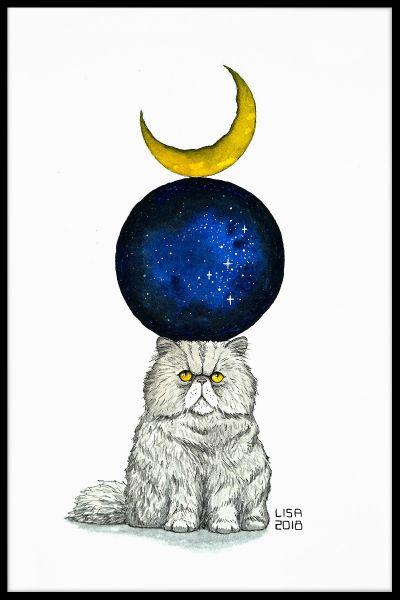 Cosmic Monday Cat Poster