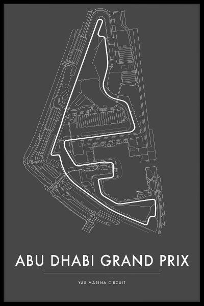 Yas Marina Abu Dhabi GP Poster