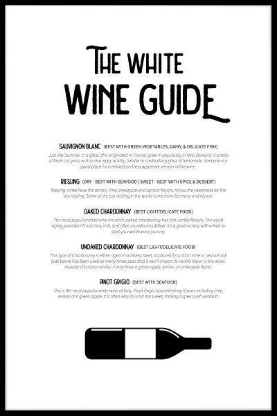 White Wine Guide Poster
