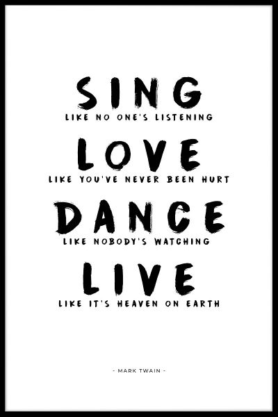 Sing Love Dance Live Poster