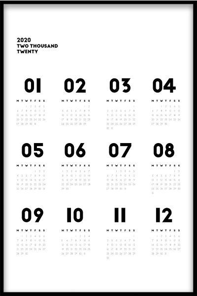 Calendar N02 Poster