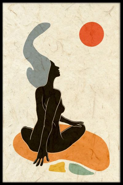 Nude Abstract Poster