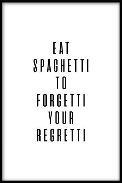 Eat Spaghetti Poster