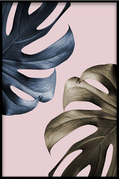 Abstract Monstera Poster