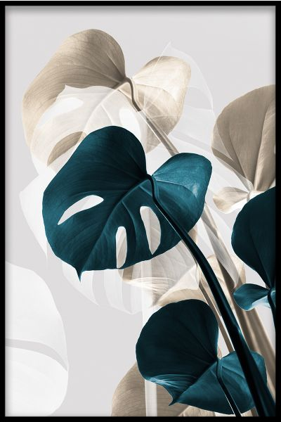Abstract Monstera N03 Poster