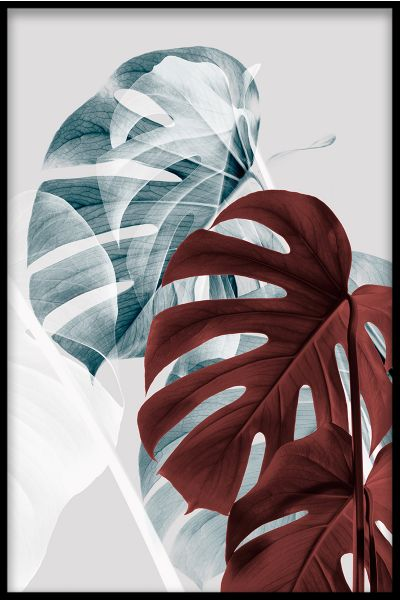 Abstract Monstera N06 Poster