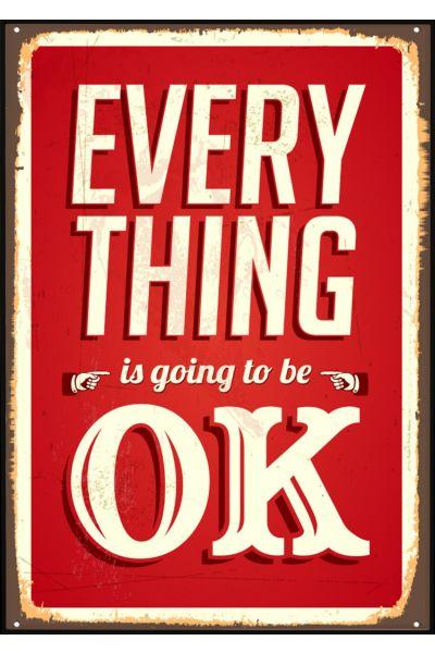 Everything OK Vintage Poster