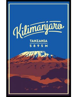 Kilimanjaro Vintage Poster