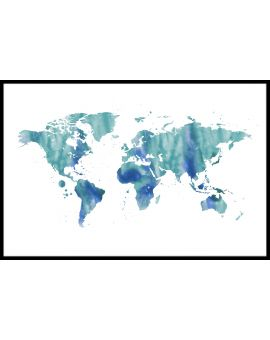 World Map N04 Poster