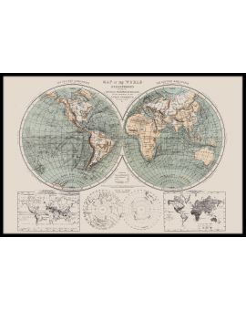 Map of the World 1869 Poster