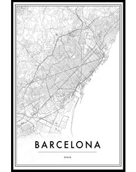 Barcelona Spain Map Poster