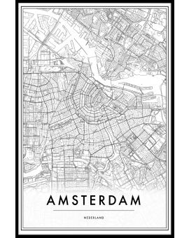 Amsterdam Netherlands Map Poster