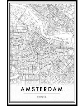 Amsterdam Netherlands Map Poster