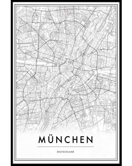 Munich Germany Map Poster