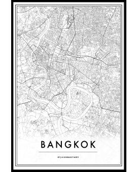 Bangkok Thailand Map Poster
