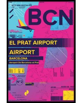 BCN Barcelona-el Prat Airport Poster