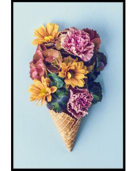 Flower Ice Cream Poster