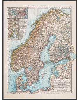 Scandinavia Map 1896 Poster