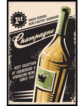 Champagne Vintage Poster