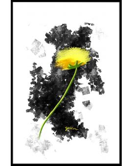 Yellow Flower Graphic Design Poster