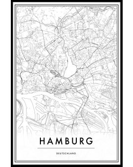 Hamburg Map Poster