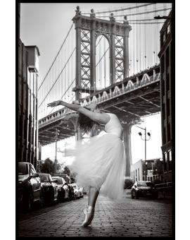 Brooklyn Ballerina Poster