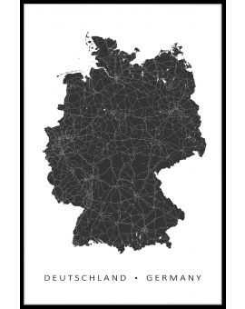 Germany Map Poster