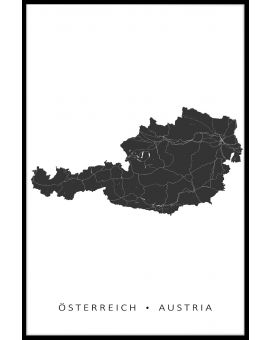 Austria Map Poster