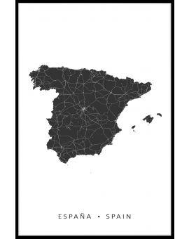 Spain Map N02 Poster