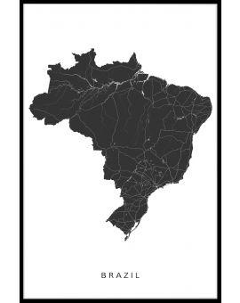 Brazil Map Poster