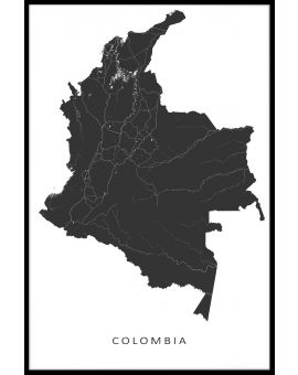 Colombia Map Poster