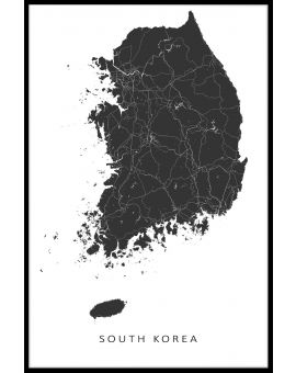 South Korea Map Poster