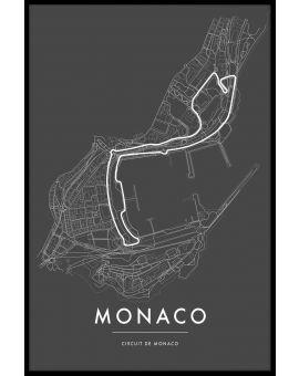 Circuit de Monaco Poster