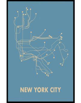 New York Metro Map Poster
